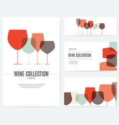 Wine branding elements vector