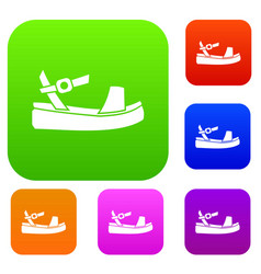 women sandale set collection vector image vector image