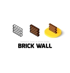 Brick wall icon in different style vector