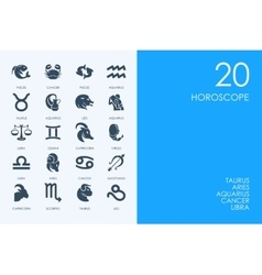 Set of horoscope icons vector