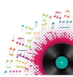musical background with vinyl vector image