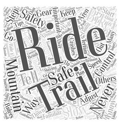 Mountain biking safety tips word cloud concept vector