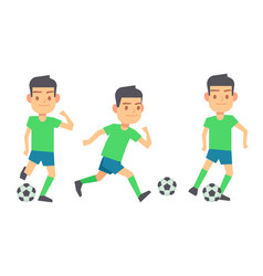 soccer players with balls set isolated vector image