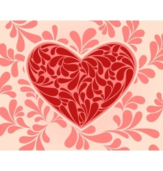 symbol of the heart with swirls vector image