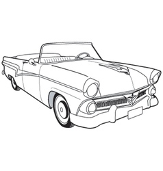 1957 Ford Customline Sedan vector image vector image