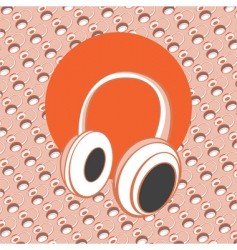 Head phones vector