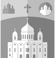 Cathedral of christ the saviour russia vector