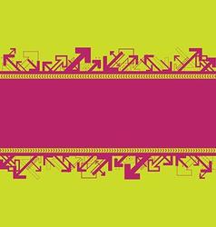 arrow banner background vector image