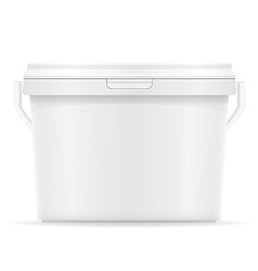 Plastic bucket for paint 07 vector