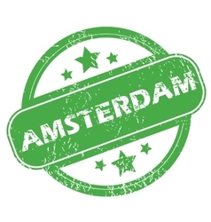 Amsterdam green stamp vector