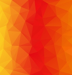 Orange yellow polygonal triangular pattern vector