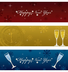 Horizontal new years banners vector