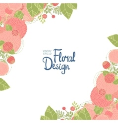 Floral corner and place for text vector