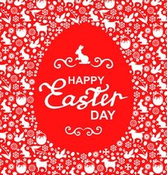 Easter card egg red vector