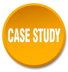 Case study orange round flat isolated push button vector