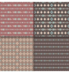 Ethnic seamless pattern set vector