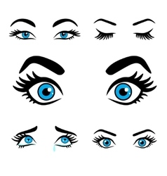 Women eyes expressions set 2 vector