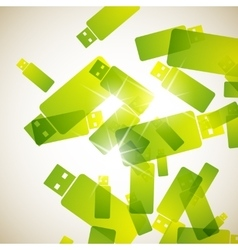 Abstract background usb vector