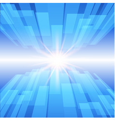 Abstract blue technology background with glow star vector