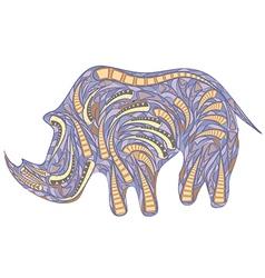 African rhinoceros vector
