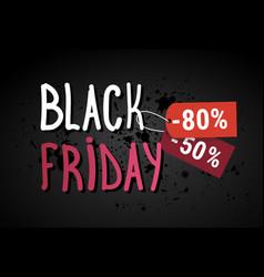 black friday sale banner over grunge background vector image vector image