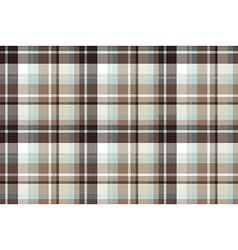 Brown blue check fabric seamless pattern vector