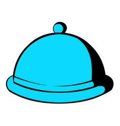 Closed dish icon cartoon vector