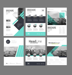 company flyer set vector image