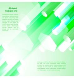 Cristal green prism vector