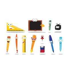 Funny School Equipment vector image vector image