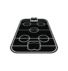 Ice hockey rink icon vector image vector image