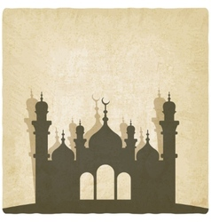 Islamic mosque old background vector image vector image