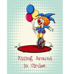 Joker riding on wheel vector