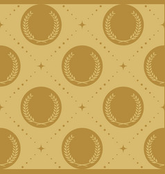 Laurel wreath seamless pattern vector