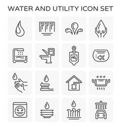 line icon of water usage and utility vector image vector image