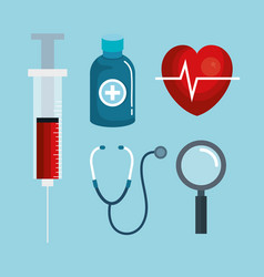 Medical objects design vector