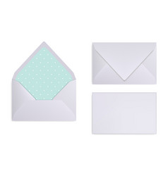 Mock-up of light grey white or silver envelope vector