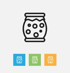 Of meal symbol on jam jar vector