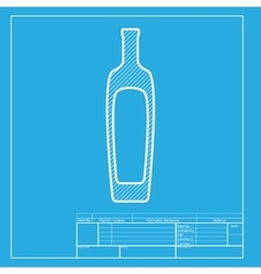 Olive oil bottle sign white section of icon on vector