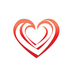 outline of hearts icon vector image vector image