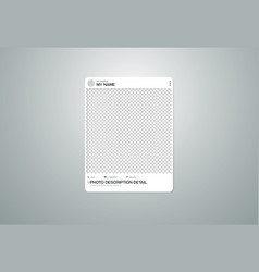 Photo frame social on transparent background vector