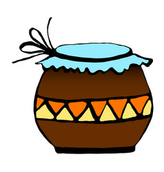 pot for storage drawing by vector image vector image