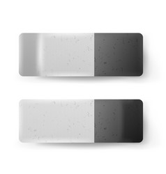 realistic eraser isolated classic grey vector image