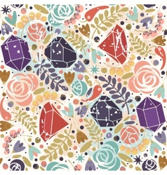 Retro background with crystals roses and spices vector image vector image