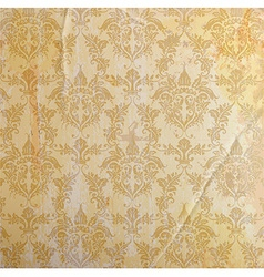Seamless Gold Vintage Background vector image