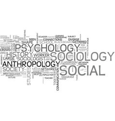 sociology word cloud concept vector image