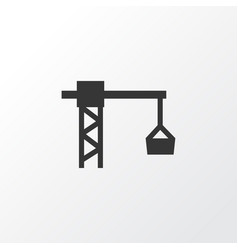 Tower crane icon symbol premium quality isolated vector