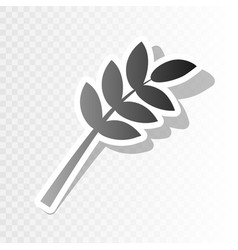 Tree branch sign new year blackish icon vector