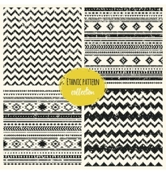 Tribal hand drawn background ethnic pattern set vector image