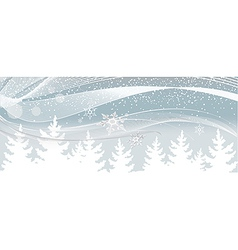 Snow falls on the white christmas tree vector